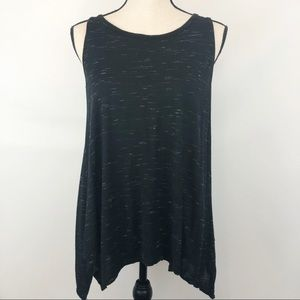 Olivia Moon Black & White Loose Fit Tank Top S